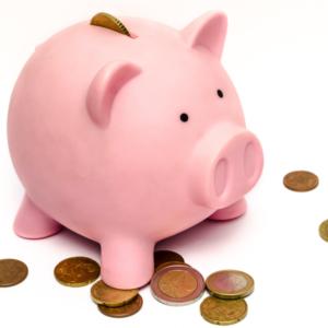 Cerdito hucha euros interes simple y compuesto