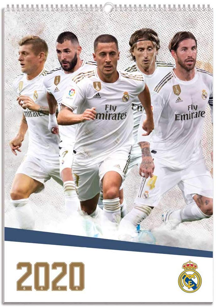 Calendario de pared 2020 Real Madrid