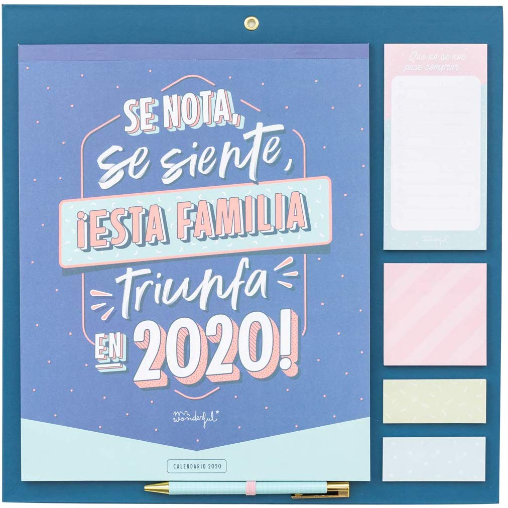 Calendario familiar 2020 Mr Wonderful