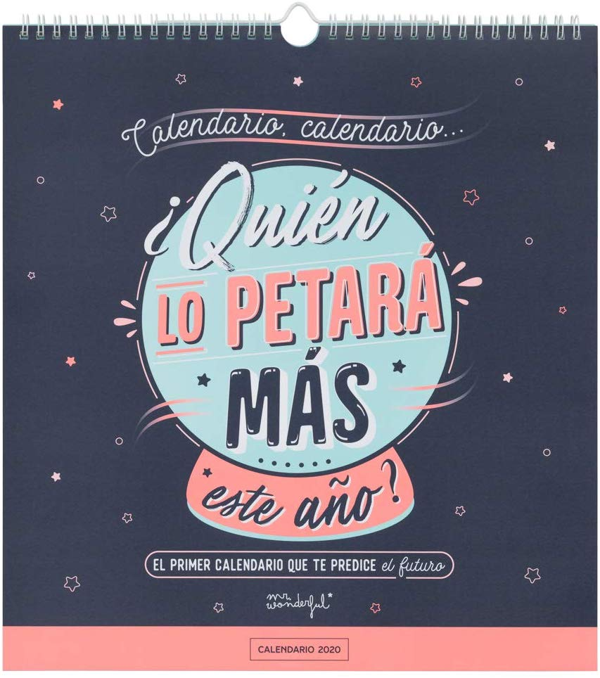 calendario de pared 2020 mr wonderful