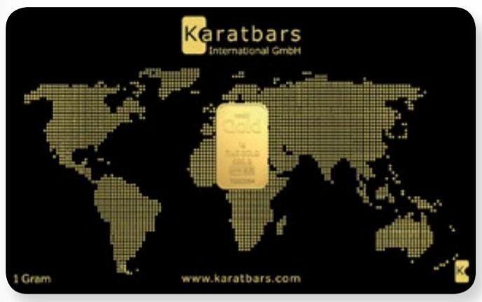 Tarjeta Karatbars 1g inversion en oro como reserva de valor