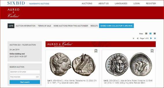 Sixbid busqueda monedas