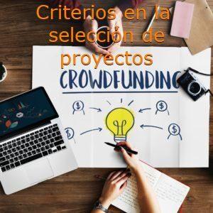 Critrerios en la seleccion de proyectos de crowdfunding inmobiliario