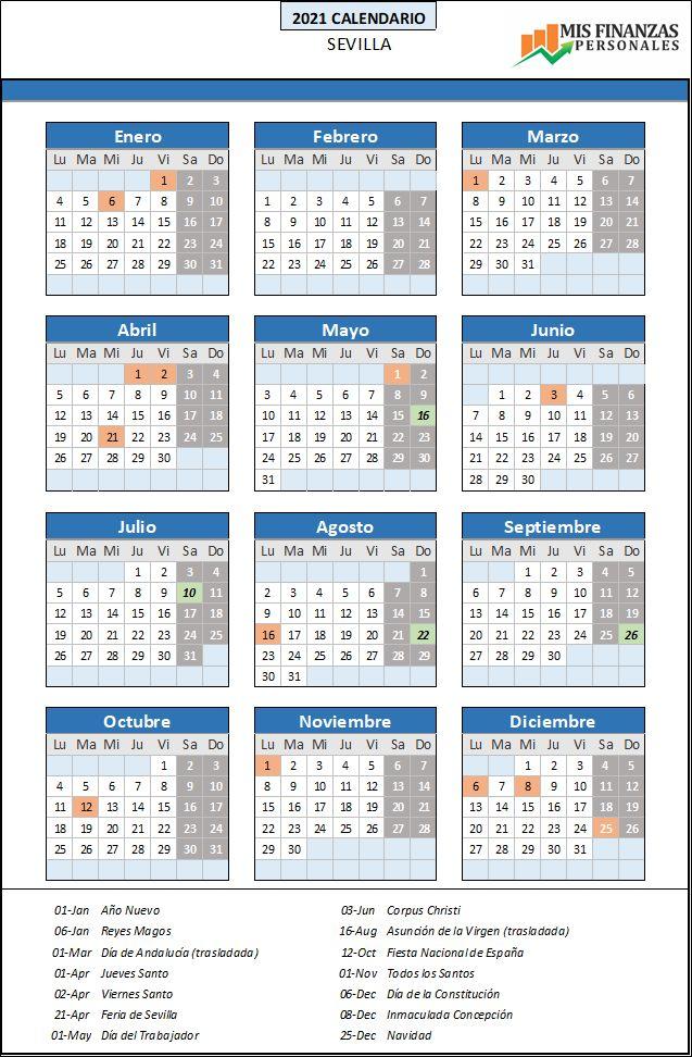 calendario laboral Sevilla 2021