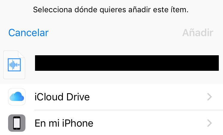 Guardar En mi iPhone