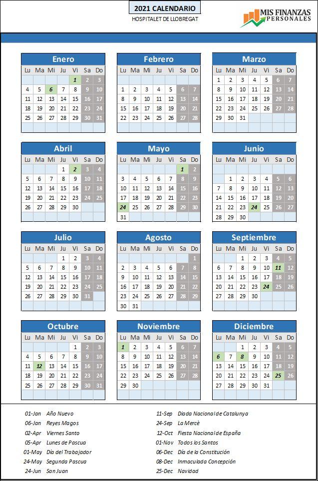 calendario laboral Hospitalet 2021