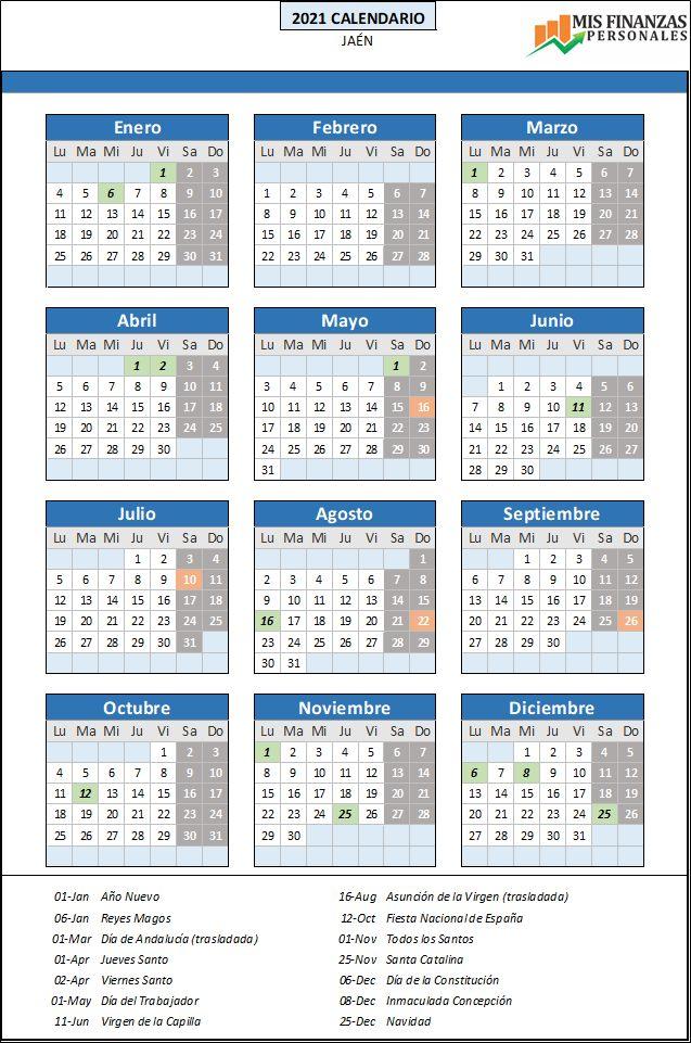 calendario laboral Jaén 2021