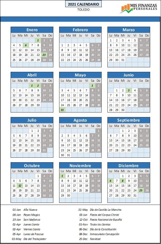 calendario laboral Toledo 2021