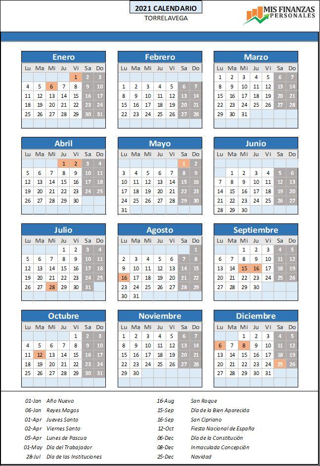 calendario laboral Torrelavega 2021