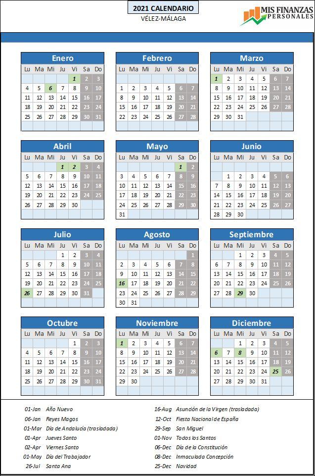 calendario laboral Vélez-Málaga 2021