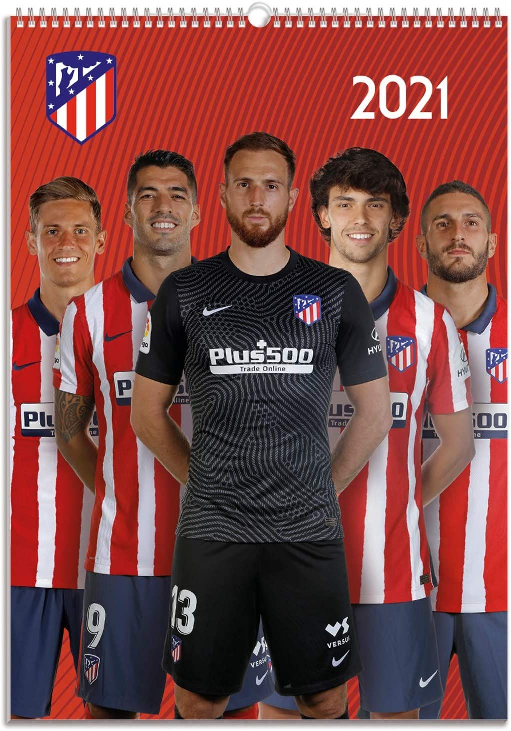 Calendario de pared 2021 Atletico Madrid