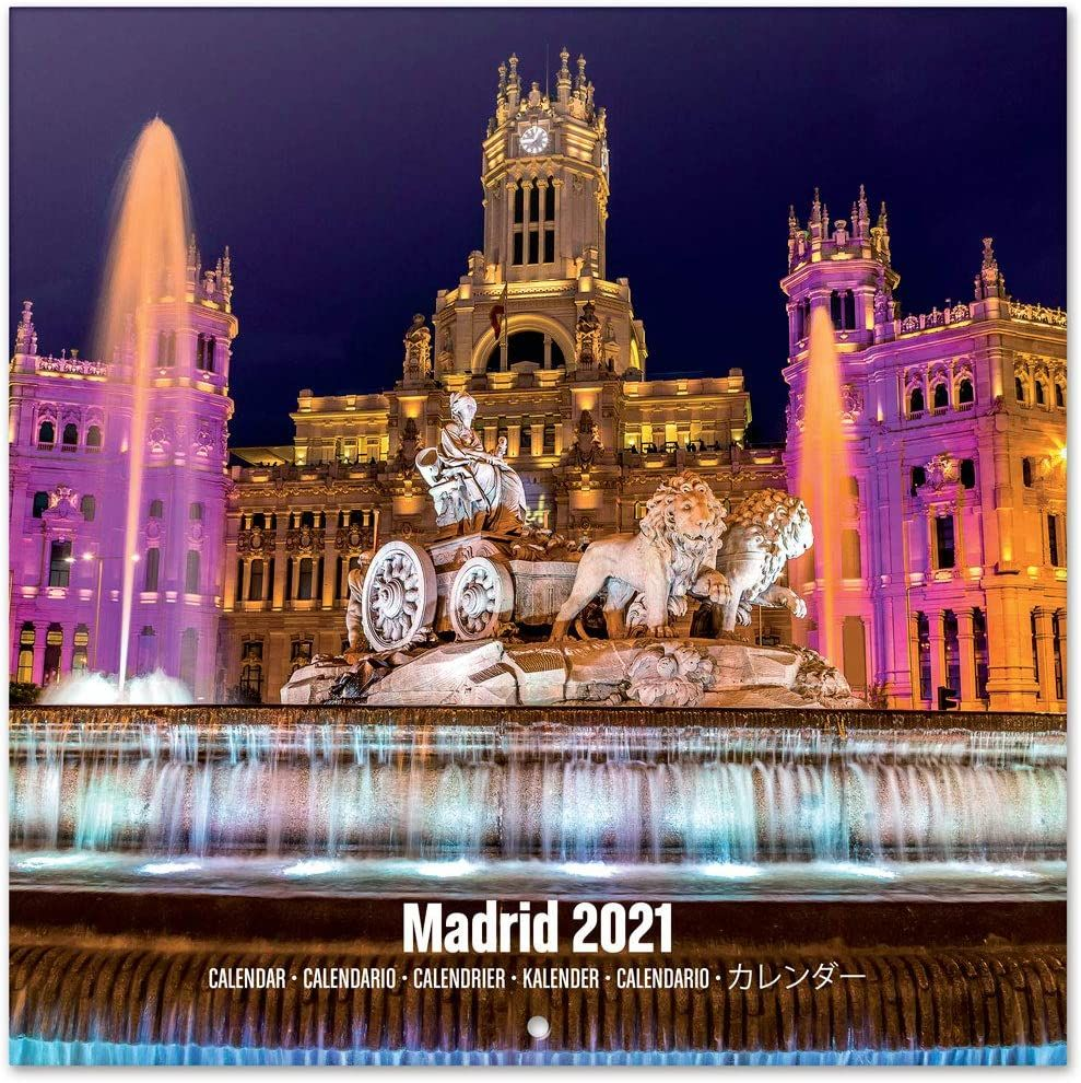 Calendario de pared 2021 Madrid 30x30