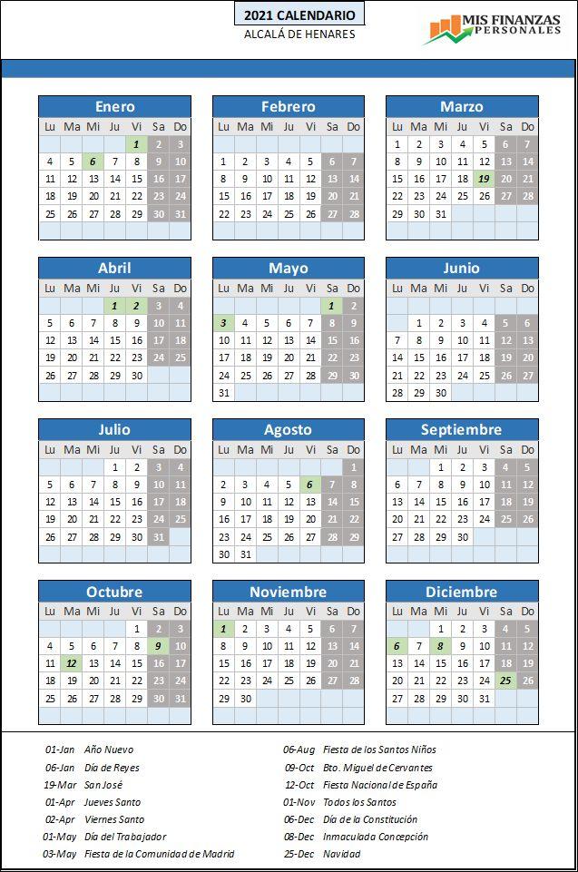 calendario laboral Alcalá de Henares 2021