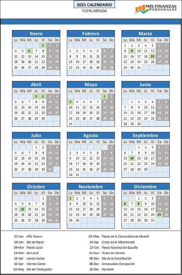 calendario laboral Fuenlabrada 2021