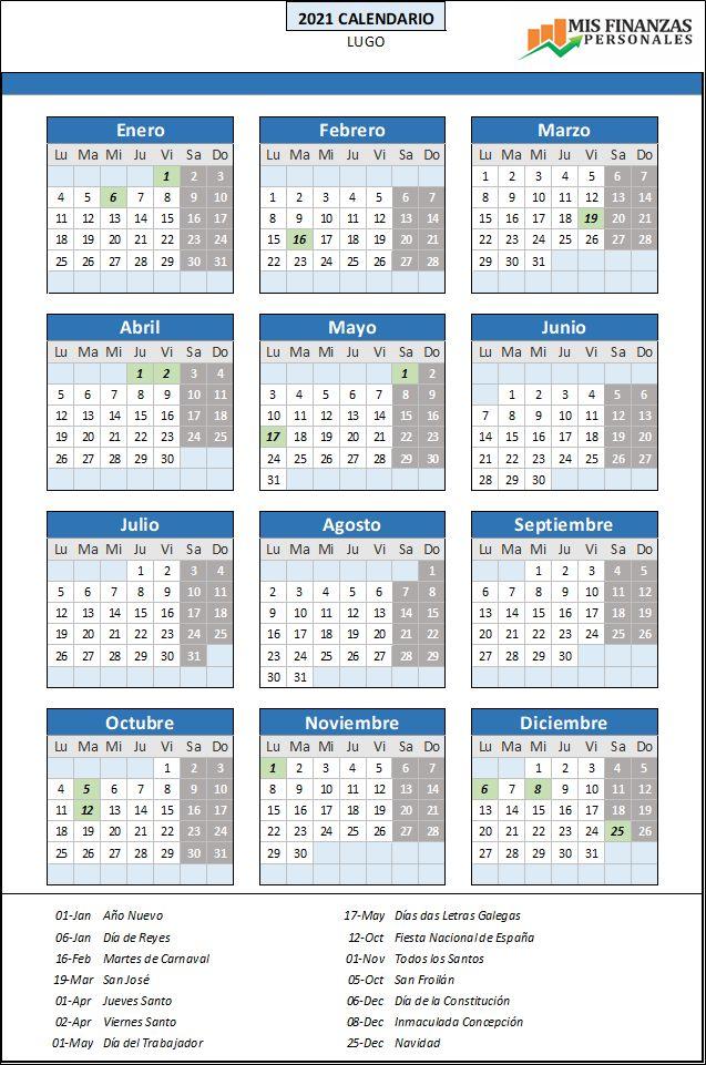 calendario laboral Lugo 2021