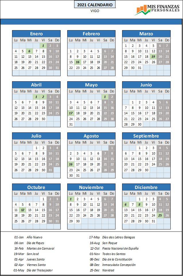 calendario laboral Vigo 2021