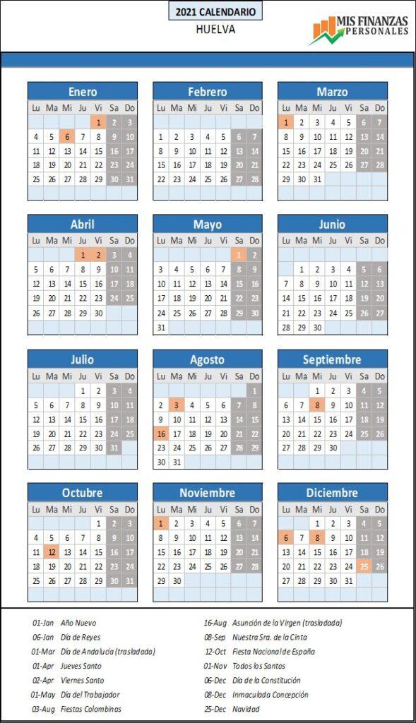 calendario laboral Huelva 2021