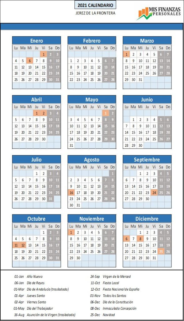calendario laboral Jerez de la Frontera 2021