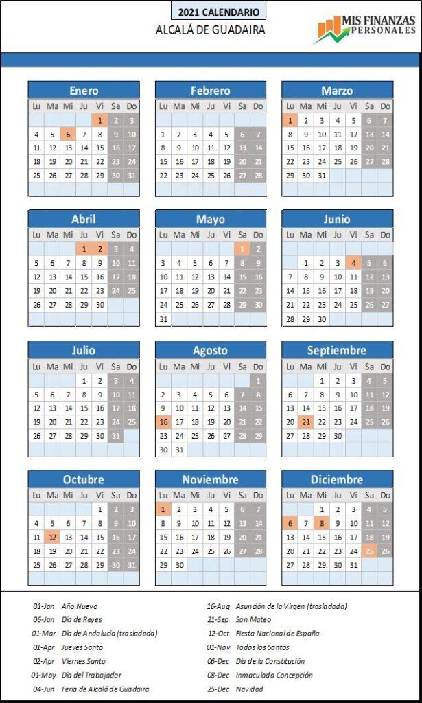 calendario laboral Alcalá de Guadaira_2021