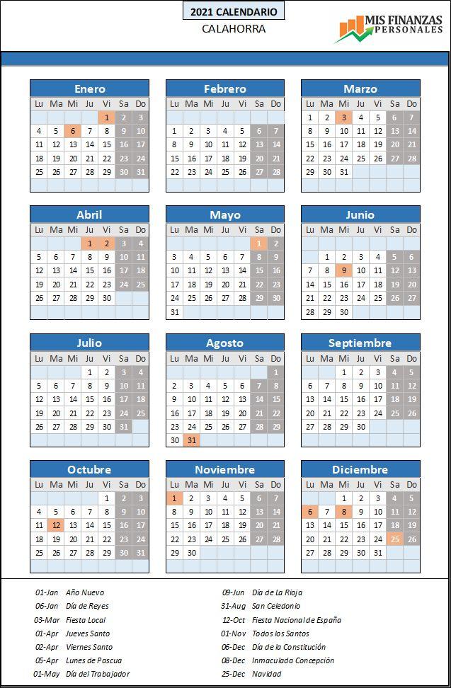 calendario laboral Calahorra 2021