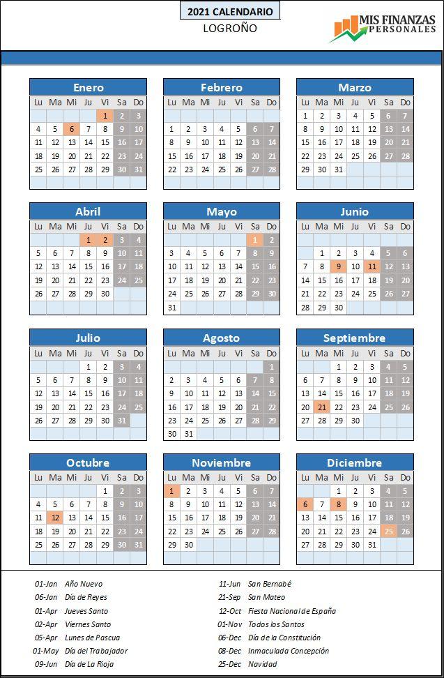 calendario laboral Logroño 2021