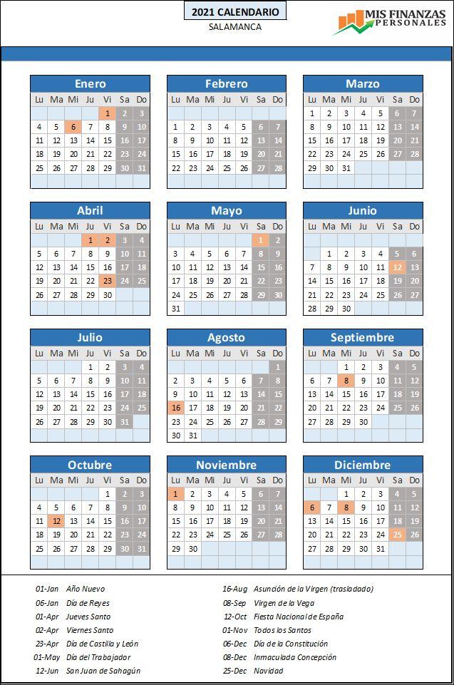 calendario laboral Salamanca 2021