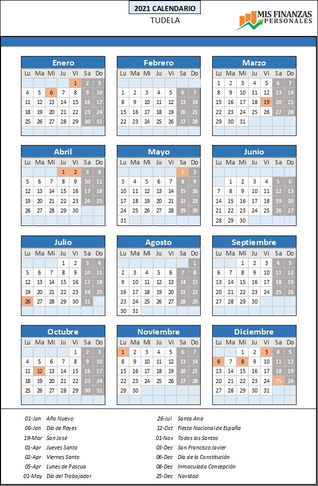calendario laboral Tudela 2021