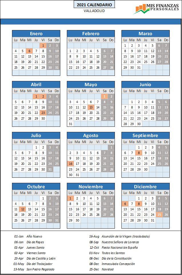 calendario laboral Valladolid 2021