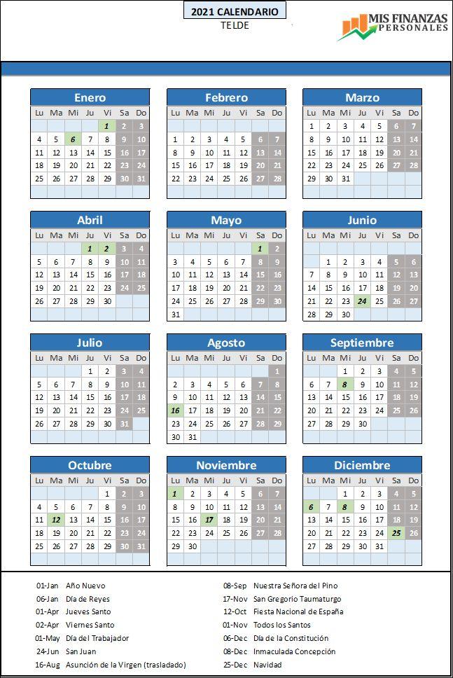 calendario laboral Telde
