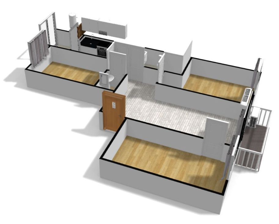 plano 3D piso