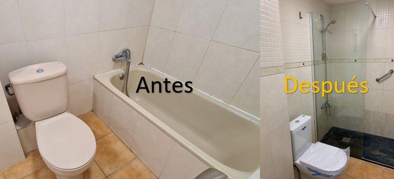 reforma baño plato ducha